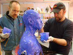 Rob and Barney Burman do a life cast
