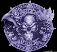 Cholo Art, Chicano Art, Aztec Drawing, Mexican Artwork, Mexican Art Tattoos, Aztec Tattoo Designs, Aztec Culture, Lowrider Art, Aztec Warrior