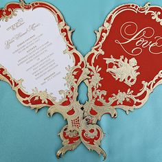 Inspiration Gallery - Invitations & Favors | Disney's Fairy Tale Weddings & Honeymoons. Wedding program on fans