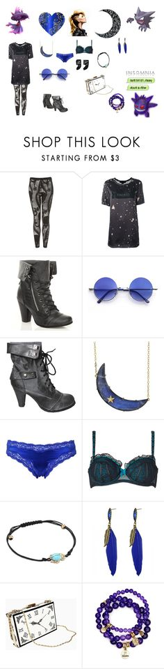 """DarkTrainer"" by surreal-starr ❤ liked on Polyvore featuring Alexander Wang, Retrò, Andrea Fohrman, STELLA McCARTNEY, Von Follies By Dita Von Teese, Diane Kordas, Sequin, haunter, gengar and mismagius"