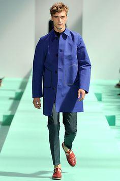 Royal blue for Spring.  Paul Smith, menswear, Spring 2013.