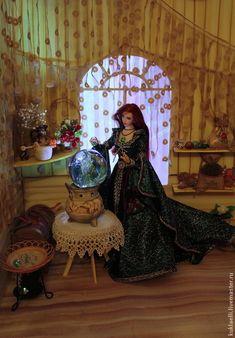 Купить Кукла Колдунья - разноцветный, колдунья, ведьма, фея, ворожея, лесная, кукла, подвижная, шарнирная