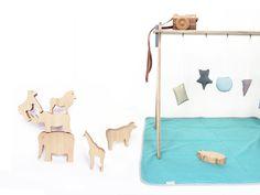Gimnasio para bebé. #juguetesdemadera  www.mad-design.eu