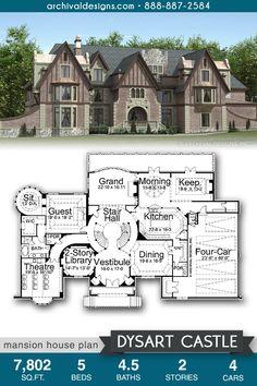 Castle House Plans, Dream House Plans, House Floor Plans, Sims 4 House Design, Sims House, The Sims, Luxury Floor Plans, Floor Plan Drawing, Model House Plan