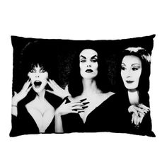 Ghoul Girls Elvira, Vampira and Morticia Pillow Cases (set of 2)