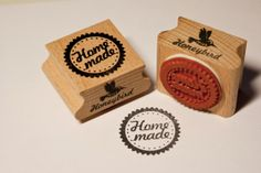 Homemade circle stamp by MissHoneyBird on Etsy, €8.95