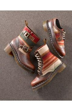 Not my style, but a cool collaboration: Pendleton for Dr. Martens
