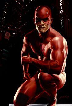 Murdock by ~axlsalles on deviantART En España era Dan Defensor. Marvel Comics Art, Marvel Comic Books, Comic Book Characters, Comic Book Heroes, Marvel Heroes, Marvel Characters, Comic Character, Comic Books Art, Comic Art