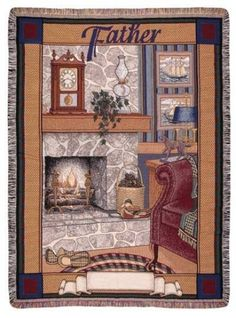 Personalized Father Tapestry Throw