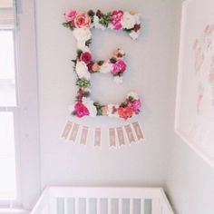 Stumbled upon this perfect nursery decor for baby girl while pinning today - isn't it the cutest!? #FunsizeFriday (Photo via @freshpartycollective) #everydayIBT #nurserydecor #babygirlnursery