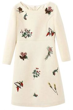 Essential Embroidered Floral Shift Dress