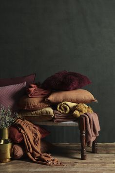 Invite warmth into your home with rich tones and textures, such as wool, velvet and faux fur. Hotel Room Design, Brown Furniture, Dark Interiors, Colour Schemes, Colour Trends, Color Palettes, Australia Living, Throw Rugs, Color Inspiration