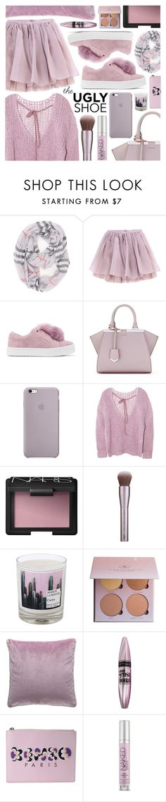 """Tricky trend"" by pastelneon ❤ liked on Polyvore featuring Olympia Le-Tan, Sam Edelman, Fendi, NARS Cosmetics, Maison La Bougie, Anastasia Beverly Hills, Maybelline, Kenzo, Urban Decay and Pink"