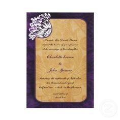 #vintage #nostalgia #shabbychic #purple #wedding #invitations and matching set by #mgdezigns