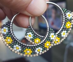 Miyuki # spring earrings # of findugundunyası is the that [a Beaded Necklace Patterns, Beaded Bracelets Tutorial, Seed Bead Bracelets, Seed Bead Jewelry, Bead Jewellery, Bead Earrings, Earrings Online, Pearl Jewelry, Ring Verlobung