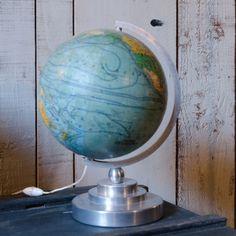 #Globe terrestre éclairant #Brocantedelabruyere