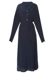 The Row Luid crepe-de-chine shirtdress