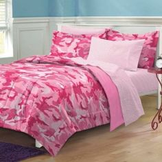 Pink Camouflage Bedroom Decor