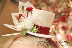 My Sister's Crazy!: Christmas Bling! (Adorable Christmas Headbands!!) Christmas Party Hats, Christmas Bows, Winter Christmas, Holiday Fun, Christmas Headbands, Xmas, Tacky Christmas Sweater, Tacky Sweater, Christmas Headpiece