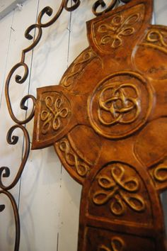Closeup of beautiful Celtic Cross  --