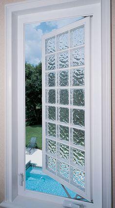 glass block bathroom windows hylite acryilc block casement privacy window in guest bath overlooking pool window