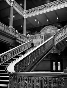 City Hall, Exchange Place, Kennedy Plaza, Providence, Providence, RI, Main Stair