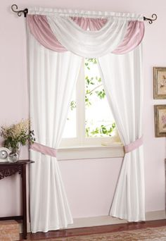 Waterfall Valance Drapes Curtains  (X2 for bedroom, would be nice)