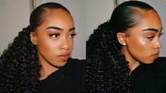 All about how I get my sleek ponytail using crochet hair! Super cute and easy protective style xx PRODUCTS: Eco Styling Gel Groganics Revita Edge Control Wid. Curly Ponytail Weave, Hair Ponytail Styles, Sleek Ponytail, Curly Hair Styles, Natural Hair Styles, Natural Beauty, Weave Ponytail Hairstyles, Cool Hairstyles, Black Hairstyles
