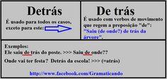 Português: Detrás ou De trás? #portugues #dicasportugues #concursospublicos