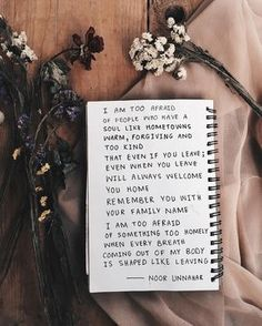— too afraid ✨ poetry by noor unnahar // art journal journaling ideas inspiration, words quotes poetic artsy, tumblr indie pale grunge hipsters aesthetics beige aesthetic, instagram creative flatlay photography dry flowers, writing writers of color pakistani teen artist //