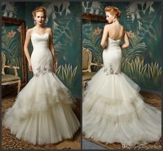 Mermaid Bridal Gowns Cheap Wedding Dress Sweep Train Elegant Zipper Back Sweetheart Neck Custom Made Formal Simple Design Charming Cheap Gowns Cheap Lace Wedding Dresses From Lovemydress, $125.23| Dhgate.Com