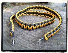 iPhone 5 Paracord Wrapped Charger (black/yellow) etsy.com/shop/lifelinessurvival