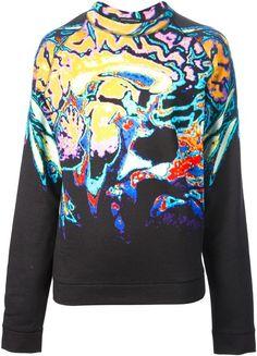 Abstract Print Sweatshirt - Lyst
