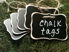 Fancy Wood Chalkboard Labels  set of 4  Basket by BradensGrace, $14.00