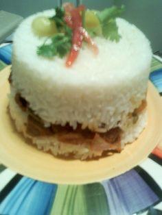 Arroz tapado (Peruvian dish) latin food