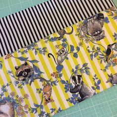 Black stripe and animal print fabric