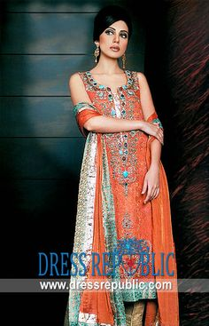 Poppy Sareena - DR2057, Traditional Women's Shalwar Kameez Dresses for EID, Salwar Kameez for EID by www.dressrepublic.com