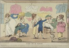 The Bum Shop, Attributed to R. Rushworth (British, active 1785–86), Hand-colored etching