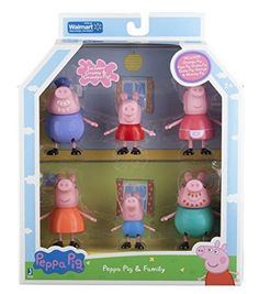 Peppa Pig and Family Figure Grandpa Granny Exclusive Set of 6