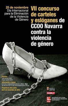 Concurso de carteles y eslóganes de CCOO Navarra contra la violencia de género » Coeducando