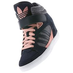 adidas Amberlight Up Shoes – the only sneaker wedges I have seen so far t… - Elegante Schuhe Up Shoes, Crazy Shoes, Wedge Shoes, Me Too Shoes, Shoe Boots, Sneakers Mode, Sneakers Fashion, Fashion Shoes, Shoes Sneakers