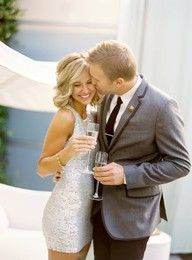 Love the idea of a sparkly dress for the rehearsal dinner