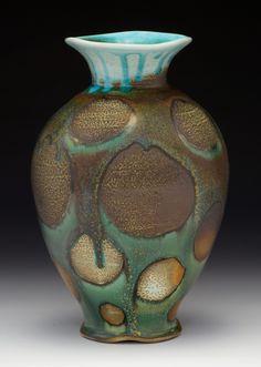 "Nolan Baumgartner. Vase, 13""x9""x9"", Soda-Fired Porcelain"
