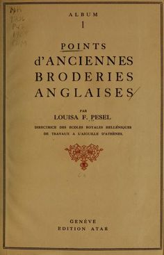 Points d'anciennes broderies anglaises