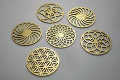 Circle of Life Coaster Set – #COZODesign #sacredgeometry #floweroflife #islamicart