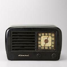 Vintage radio like we had in our kitchen.  My mom listened to Kitchen Klatter.  She even got their magazine.