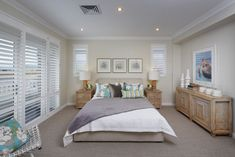 ❤️ Such a lovely bedroom by Don Russell Homes in their Westhampton display. Love the addition of the windows either side of the bed x Don Russell Homes Westhampton display Aluminium Windows, Display Homes, Western Australia, Home Builders, Perth, Master Suite, New Homes, Bedrooms, Bedroom Decor