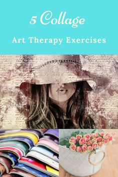 """Check out my """"Art Therapy for Personal Development Online Course"""" and learn how to make therapeutic art at home. I added 30 different structured and semi-structured art therapy exercises. One complete module concentrates on Collage Making to focus on your self-awareness and to learn how to express your thoughts and feelings. Embrace your creativity today and enroll to my online Art Therapy course! #Arttherapy #therapeuticart #onlinecourse #collage #collagemaking Art Therapy Projects, Art Therapy Activities, Collage Making, Collage Art, Collages, Art Therapy Courses, Artist Quotes, Soul Art, Process Art"""