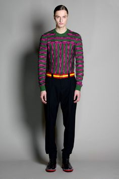Interesting sweater, dont love the colours but like the idea. Jonathan Saunders   Fall 2014 Menswear Collection  