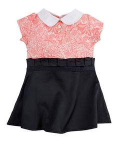 Look what I found on #zulily! Pink & Navy Floral Collar Dress - Infant, Toddler & Girls #zulilyfinds